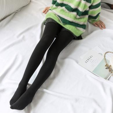 七格格打底褲女2019新款冬季加厚褲子高腰顯瘦緊身黑色連褲襪子潮