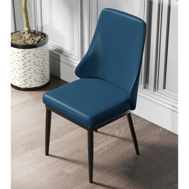 慕梵迪 餐椅 现代轻奢 海棉+优?#39135;?#32420;皮+不锈钢五金电镀钛金 YX-010