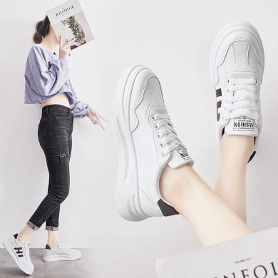 ins网红潮鞋新款女鞋韩版小白鞋反光皮革ins超火智熏板鞋YG-C62