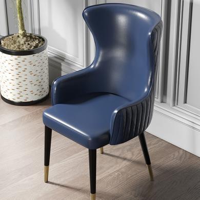 慕梵迪 餐椅 现代轻奢 海棉+优质超纤皮+不锈钢五金电镀钛金 YX-007