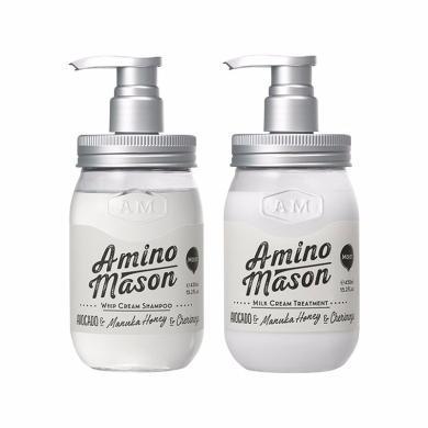【支持购物卡】【向往的生活同款】Amino mason 升级氨基酸头皮护理滋养洗发水 450毫升+护发素 450毫升(滋润型)