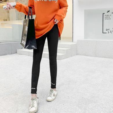 七格格打底褲女外穿2019新款冬季黑色緊身小腳褲百搭顯瘦九分褲子