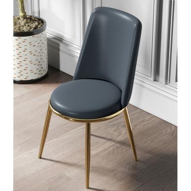 慕梵迪 餐椅 现代轻奢 海棉+优?#39135;?#32420;皮+不锈钢五金电镀钛金 YX-009