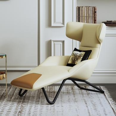 慕梵迪 休閑椅 現代輕奢 實木框架+優質布藝+高回彈海綿+五金腳 S-33