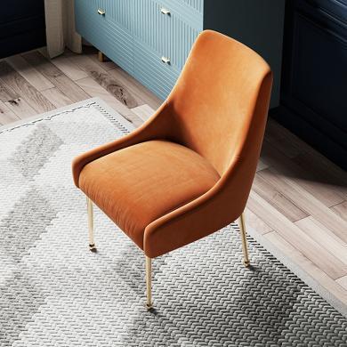 奢恩 餐椅 現代輕奢 實木框架+高回彈海綿+絨布+五金腳 YX-033