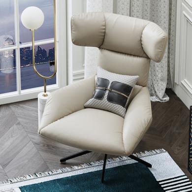 慕梵迪 休闲椅 实木框架+优质超纤皮+高回弹海绵+五金脚 AC032
