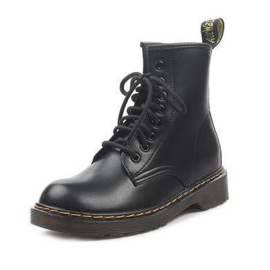 新款馬丁靴女學院風高幫鞋粗跟機車靴學生馬丁靴女鞋GT9903