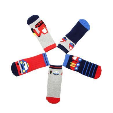 G1-19兒童冬季加厚毛圈襪子5雙裝hugmii/哈格美