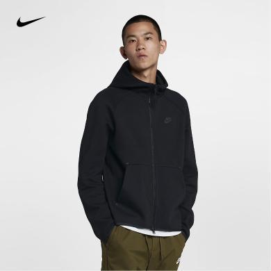Nike耐克男子夾克外套針織包邊短款修身連帽拉鏈運動服928484-010