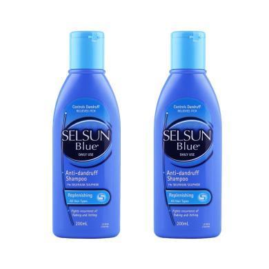 【支持購物卡】  2件裝 澳大利亞SELSUN 藍色日常修復去屑洗發水200ML*2((預售,下單后10天內發貨))