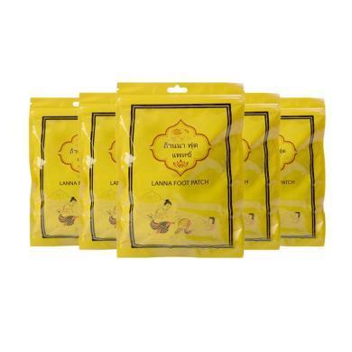【支持购物卡】5包装泰国  LANA/兰纳 养生足贴 10贴