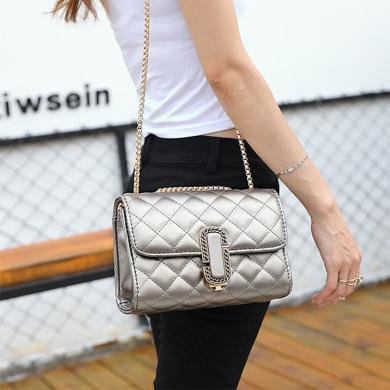 女士新款小香風包包鏈條包單肩包斜挎包女包包N975