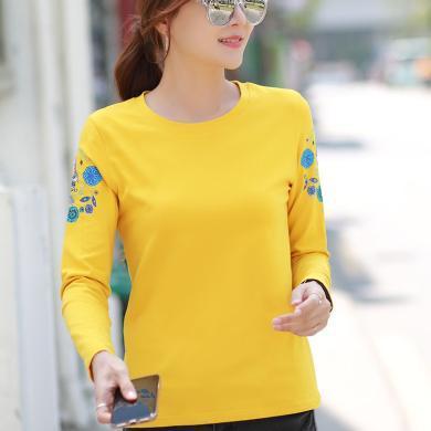 右姿 新款韓版超火T恤純棉薄款T恤女長袖