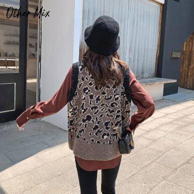 七格格針織馬甲女2019新款冬季韓版寬松毛衣背心中長款外穿馬夾
