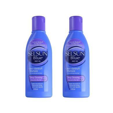 【支持購物卡】  2件裝 澳大利亞SELSUN 紫色日常深層清潔去屑洗發水 200ML*2(預售,下單后10天內發貨)