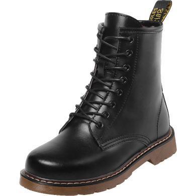 公猴馬丁靴女短靴新款冬季英倫風平底加絨棉鞋學生網紅中筒靴