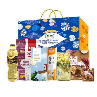 中糧民生大禮包158型2380g+900ml 糧油米面禮盒 年貨禮盒