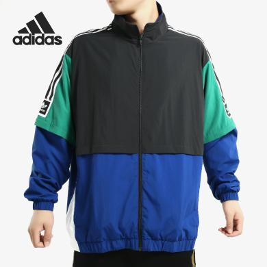 Adidas/阿迪达斯正品三叶草STDRD 20 JKT 男条纹运动外套EC7329