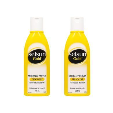 【支持購物卡】  2件裝 澳大利亞 SELSUN 黃色強效去屑洗發水 200ML*2(預售,下單后10天內發貨)