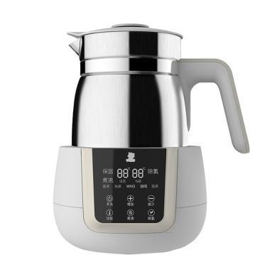 小白熊恒温壶婴儿冲奶器恒温器调奶器热水壶冲奶粉恒温水壶不锈钢大容量1.2升