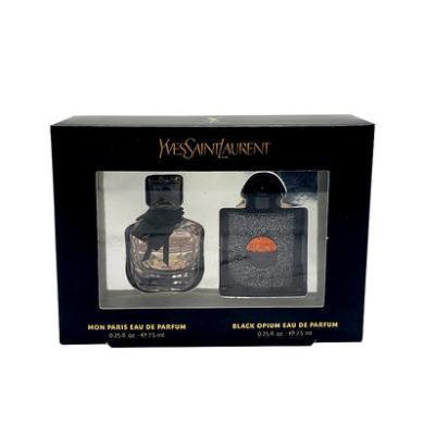【支持購物卡】法國YSL 圣羅蘭 反轉巴黎女士香水+黑鴉片EDP經典香水套盒小樣 7.5ml*2 香港直郵