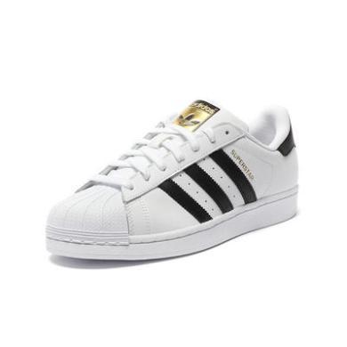【支持購物卡】美國直郵 Adidas阿迪達斯Superstar女鞋三葉草貝殼頭金標休閑鞋 C77154 C77124