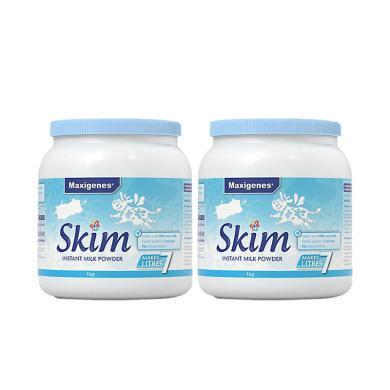 【2罐】澳洲 Maxigenes 美可卓 成人脫脂奶粉藍妹子1kg/罐 原裝進口 純凈奶源