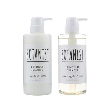 2瓶裝*日本BOTANIST/植物學家無硅洗發水490ML+護發素490ML 白色清爽
