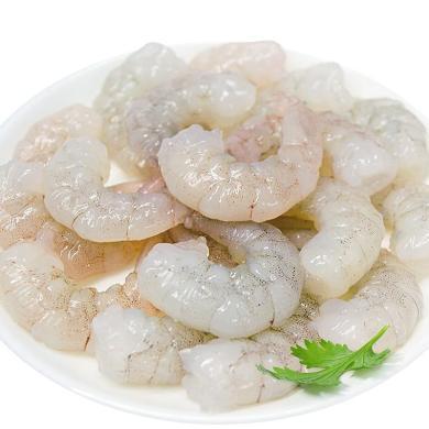 崇鮮鮮凍生南美白對蝦仁 冷凍 新鮮速凍寶寶輔食250g/包*4包水晶青蝦仁