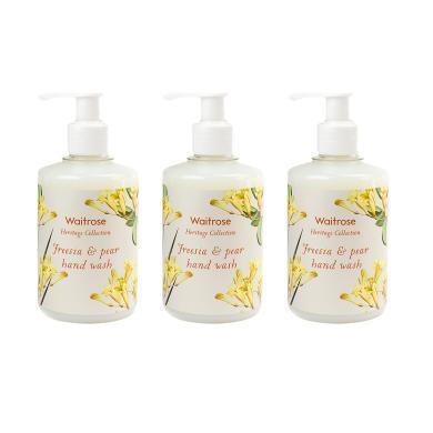 【支持購物卡】3瓶*英國Waitrose小蒼蘭與梨洗手液滋潤保濕抑菌 250ml英國直郵