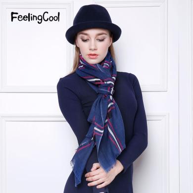 飞兰蔻纯羊毛围巾薄款秋冬季围巾女大规格长款披肩两用保暖围脖