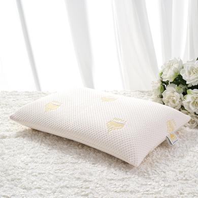 【支持购物卡】泰嗨(TAIHI)泰国原装进口天然乳胶泰国乳胶枕头颈椎枕头面包枕芯欧洲标准枕头带枕套  传统乳胶枕