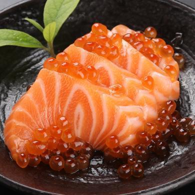【兩份送甜蝦】崇鮮 挪威進口冰鮮三文魚刺身 400g 盒裝 生魚片 海鮮