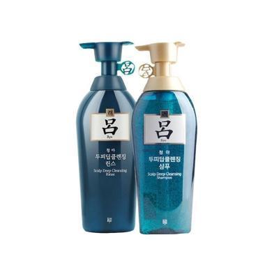 【支持購物卡】組合裝 RYOE/呂 綠呂含光耀護損傷修護 洗發水400ml  + 護發素400ml