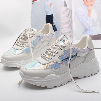 智熏鞋老爹鞋女2020春季新款超火網紅運動鞋內增高休閑鞋ins女鞋