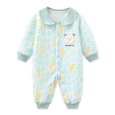 班杰威爾純棉秋冬連體衣寶寶保暖內衣加厚嬰兒爬服哈衣