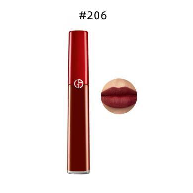 【支持購物卡】GIORGIO ARMANI 阿瑪尼 唇釉 口紅 臻致絲絨啞光液體唇釉紅管  #206 6.5ml