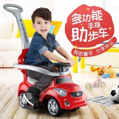锋达儿童扭扭车1-3宝宝溜溜车滑行车带音乐手推车轮四轮学步车