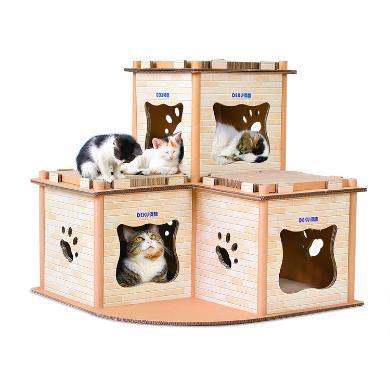 得酷 原创猫用品瓦楞纸猫咪豪宅猫屋子房子磨爪玩具猫?#20848;?>                                 </a>                             </div>                         <div class=
