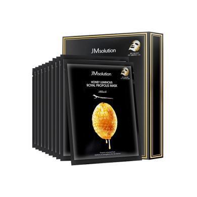【支持购物卡】3盒*韩国JMsolution 水光蜂蜜面膜蚕丝补水滋润超薄保湿 10片/盒 香港直邮