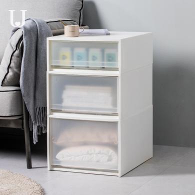 多功能抽屜式儲物箱 收納箱抽屜式塑料透明儲物柜子衣服內衣衣物整理箱神器衣柜收納盒