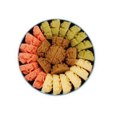 【顺丰包邮】珍妮曲奇 彩虹四味曲奇 320g 手工曲奇饼干 年节送礼