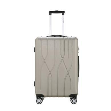 外交官Diplomat 万向轮行李箱旅行箱?#20449;瓾M-6082 香槟金 20英寸
