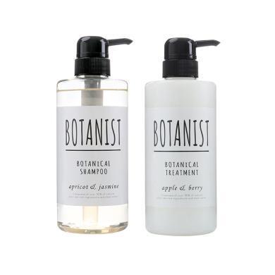 2瓶装*日本BOTANIST/植物学家无硅洗发水490ML+护发素490ML 黑色滋润