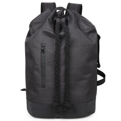香炫兒XIASUAR 經典款健身背包男抽繩雙肩包旅行束口袋帆布旅游水桶包籃球包