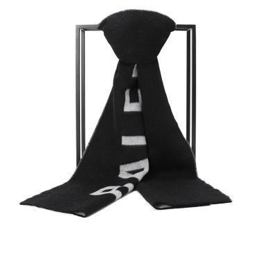 [支持購物卡]BALENCIAGA/巴黎世家 字母標識羊毛圍巾 512732