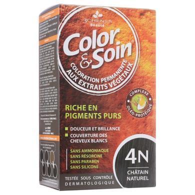 法国三橡树染发剂  4N-天热栗色135ml单盒