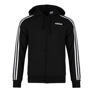 adidas阿迪达斯2020男子运动服三条杠简约连帽夹克休闲针织外套DQ3102