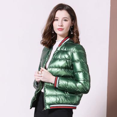 法米姿 羽绒服女装2019冬季新款修身显瘦轻薄短款羽绒服气质保暖小外套女   79319