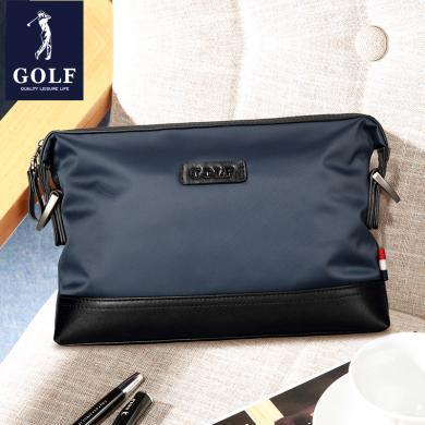 高爾夫GOLF男士手包男多功能大容量休閑防水尼龍布手拿包帆布男包  S595604